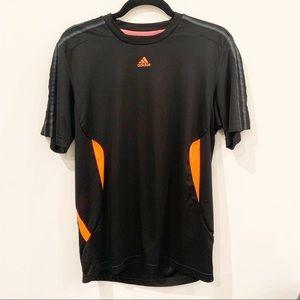 Adidas Climacool | Short Sleeve Black Orange Shirt
